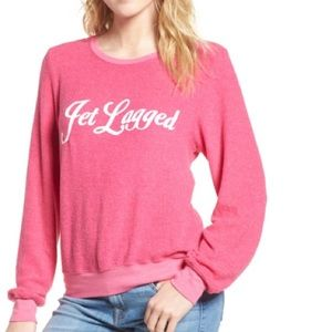 🦊💋 Wildfox Dream Scene Jet Lagged Sweater NWT